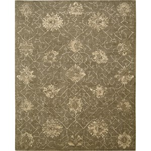 "Nourison Silken Allure 9'9"" x 13'9"" Chocolate Area Rug"