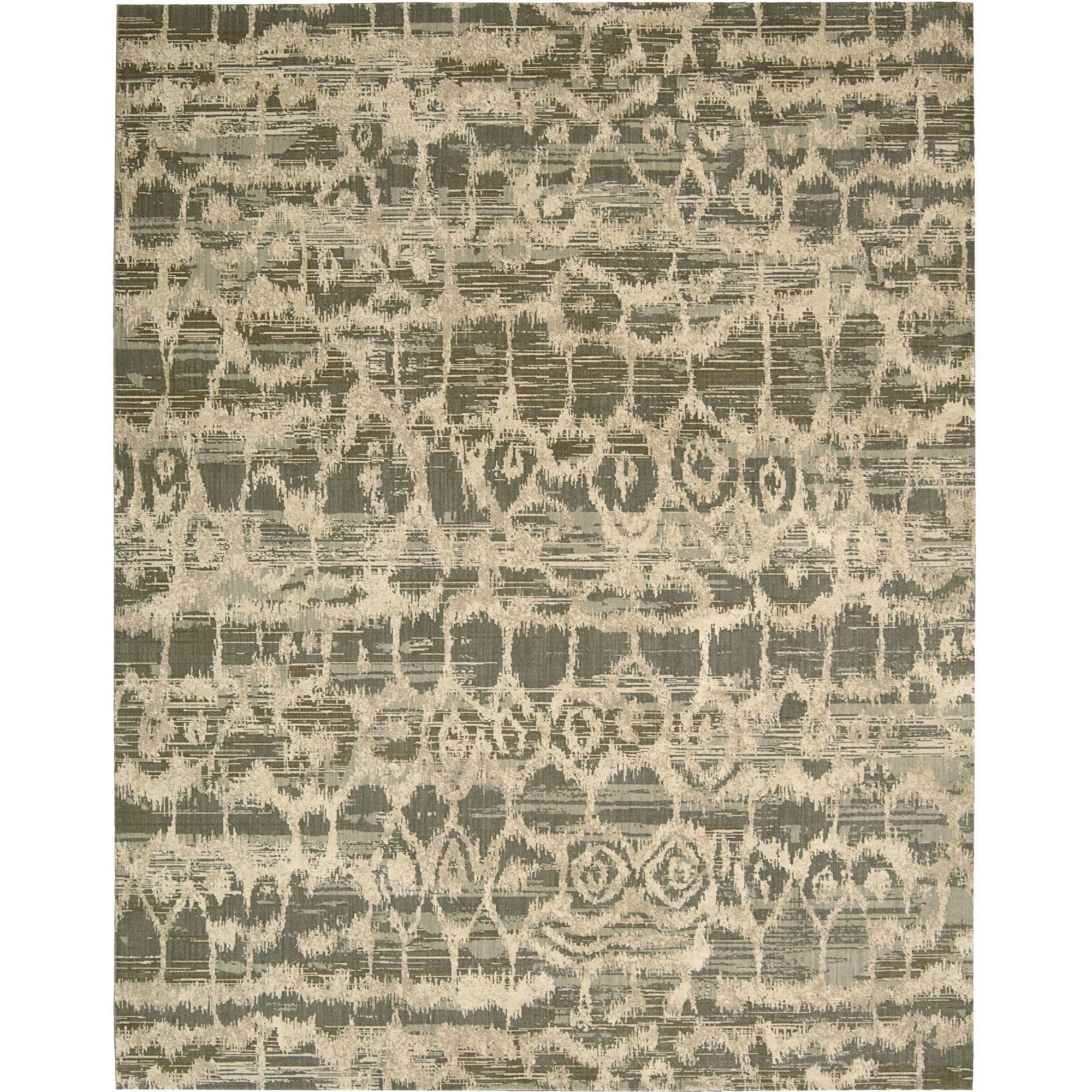 """Nourison Silken Allure 5'6"""" x 8' Multicolor Area Rug - Item Number: 15299"""