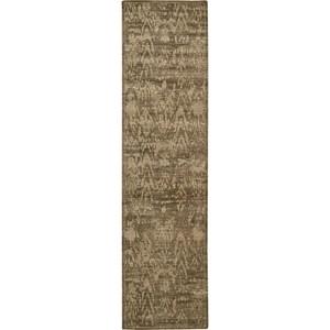"""Nourison Silken Allure 2'5"""" x 10' Chocolate Area Rug"""