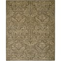 "Nourison Silken Allure 7'9"" x 9'9"" Chocolate Area Rug - Item Number: 15409"