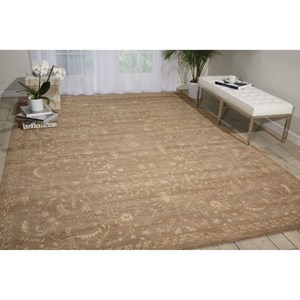 "Nourison Silken Allure 7'9"" x 9'9"" Taupe Rectangle Rug"