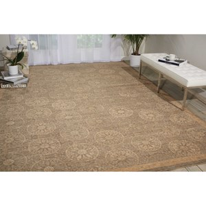 "Nourison Silken Allure 8'6"" x 11'6"" Mushroom Rectangle Rug"