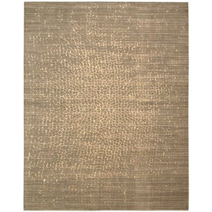 "Nourison Silken Allure 7'9"" x 9'9"" Mushroom Rectangle Rug"