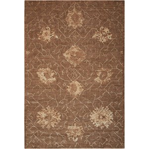 "Nourison Silken Allure 9'9"" x 13'9"" Chocolate Rectangle Rug"