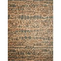 "Nourison Silken Allure 9'9"" x 13'9"" Teal Rectangle Rug - Item Number: SLK10 TL 99X139"