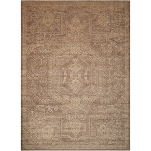 "Nourison Silken Allure 8'6"" x 11'6"" Taupe Rectangle Rug"