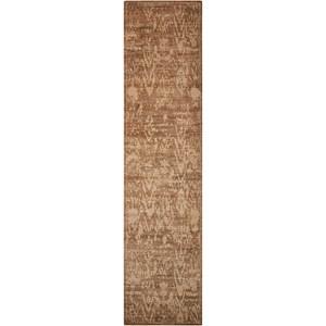 """Nourison Silken Allure 2'5"""" x 10' Chocolate Runner Rug"""