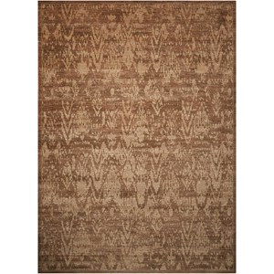 "Nourison Silken Allure 7'9"" x 9'9"" Chocolate Rectangle Rug"