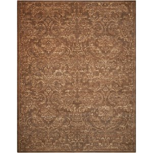 "Nourison Silken Allure 5'6"" x 8' Chocolate Rectangle Rug"