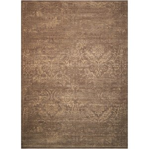 "Nourison Silken Allure 5'6"" x 8' Mushroom Rectangle Rug"