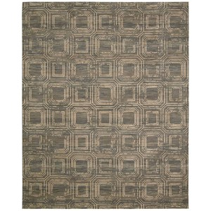 "Nourison Silken Allure 8'6"" x 11'6"" Smoke Rectangle Rug"
