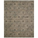 "Nourison Silken Allure 8'6"" x 11'6"" Smoke Rectangle Rug - Item Number: SLK24 SMOKE 86X116"
