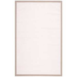 Nourison Sisalsoft 5' x 8' White Rectangle Rug