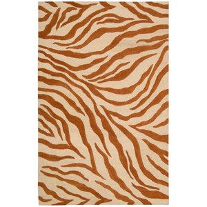 "Nourison Skyland 7'6"" x 9'6"" Iv/Rust Rectangle Rug"