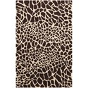"Nourison Skyland 5'6"" x 7'5"" Brown/Iv Rectangle Rug - Item Number: SKY06 BRNIV 56X75"