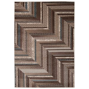"Nourison Soho 7'10"" x 10'6"" Mocha/Blue Rectangle Rug"
