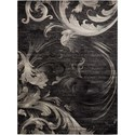 "Nourison Soho 9'3"" x 12'9"" Blk/Grey Rectangle Rug - Item Number: SOH05 BLKGY 93X129"
