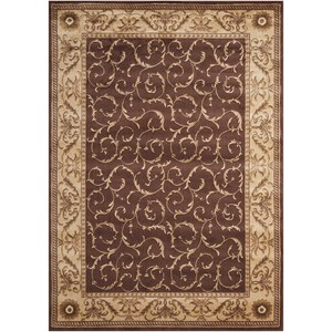 "Nourison Somerset 3'6"" x 5'6"" Brown Rectangle Rug"