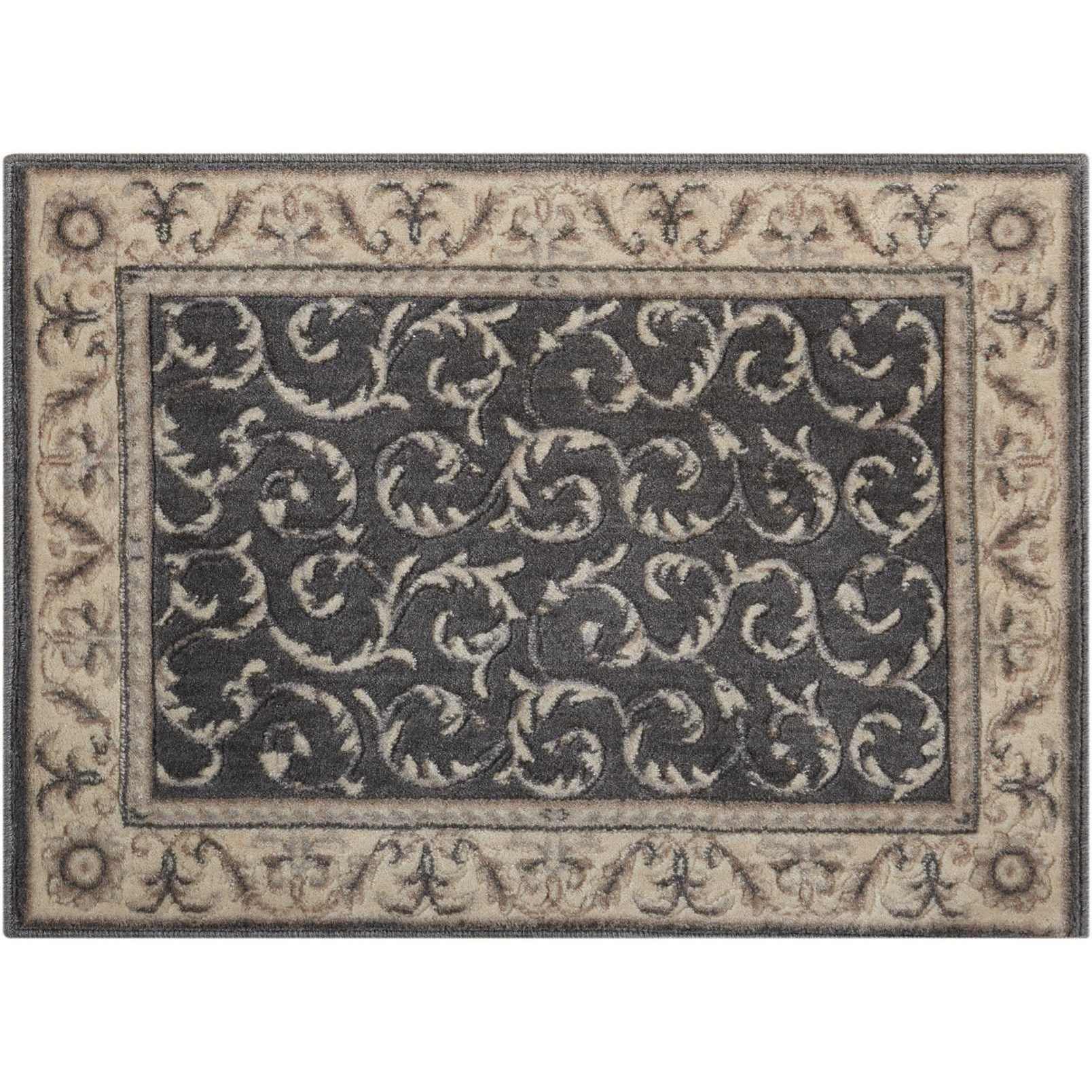 """Nourison Somerset 2' x 2'9"""" Charcoal Rectangle Rug - Item Number: ST02 CHARC 2X29"""