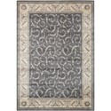 "Nourison Somerset 3'6"" x 5'6"" Charcoal Rectangle Rug - Item Number: ST02 CHARC 36X56"