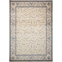 "Nourison Somerset 7'9"" x 10'10"" Ivory Blue Rectangle Rug - Item Number: ST02 IVBLU 79X1010"