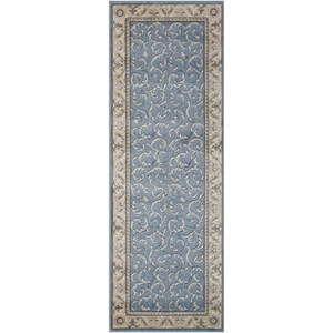 "Nourison Somerset 2' x 5'9"" Light Blue Runner Rug"