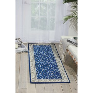 "Nourison Somerset 3'6"" x 5'6"" Navy Rectangle Rug"