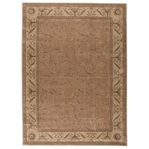 "7'9"" x 10'10"" Peach Rectangle Rug"
