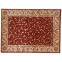 "Nourison Somerset 2' x 2'9"" Red Rectangle Rug - Item Number: ST02 RED 2X29"