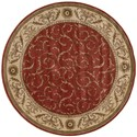 """Nourison Somerset 5'6"""" x 5'6"""" Red Round Rug - Item Number: ST02 RED 56X56"""