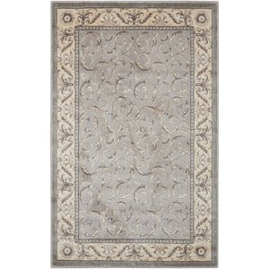 "Nourison Somerset 2' x 2'9"" Silver Rectangle Rug"