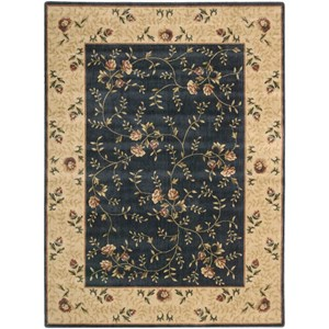 "Nourison Somerset 5'3"" x 7'5"" Navy Rectangle Rug"
