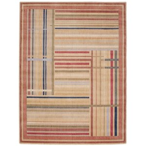 "Nourison Somerset 5'3"" x 7'5"" Multicolor Rectangle Rug"