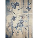 "Nourison Somerset 9'6"" x 13' Ivory Blue Rectangle Rug - Item Number: ST18 IVBLU 96X13"