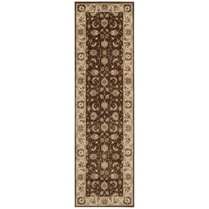 "Nourison Somerset 2'3"" x 8' Brown Runner Rug"