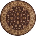 "Nourison Somerset 5'6"" x 5'6"" Brown Round Rug - Item Number: ST62 BRN 56X56"