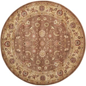 "5'6"" x 5'6"" Taupe Round Rug"