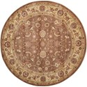 "Nourison Somerset 5'6"" x 5'6"" Taupe Round Rug - Item Number: ST62 TAU 56X56"