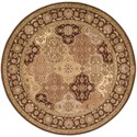 "Nourison Somerset 5'6"" x 5'6"" Multicolor Round Rug - Item Number: ST63 MTC 56X56"
