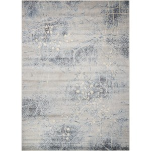 "5'3"" x 7'5"" Silver/Blue Rectangle Rug"