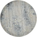 "Nourison Somerset 5'6"" x 5'6"" Silver/Blue Round Rug - Item Number: ST74 SILBL 56X56"