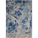 """Nourison Somerset 5'3"""" x 7'5"""" Blue Rectangle Rug - Item Number: ST745 BLUE 53X75"""