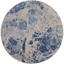 "Nourison Somerset 5'6"" x 5'6"" Blue Round Rug - Item Number: ST745 BLUE 56X56"