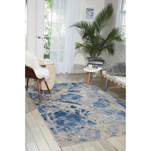 "Nourison Somerset 7'9"" x 10'10"" Blue Rectangle Rug"