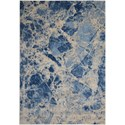 "Nourison Somerset 7'9"" x 10'10"" Blue Rectangle Rug - Item Number: ST745 BLUE 79X1010"