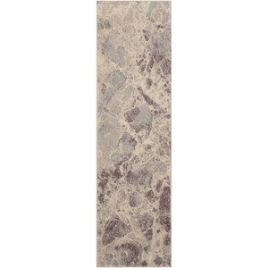"Nourison Somerset 2' x 5'9"" Grey Runner Rug"