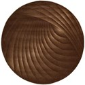 "Nourison Somerset 5'6"" x 5'6"" Chocolate Round Rug - Item Number: ST75 CHO 56X56"