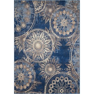 "Nourison Somerset 7'9"" x 10'10"" Denim Rectangle Rug"