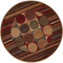 "Nourison Somerset 5'6"" x 5'6"" Multicolor Round Rug - Item Number: ST80 MTC 56X56"