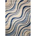 """Nourison Somerset 2' x 2'9"""" Ivory Blue Rectangle Rug - Item Number: ST81 IVBLU 2X29"""